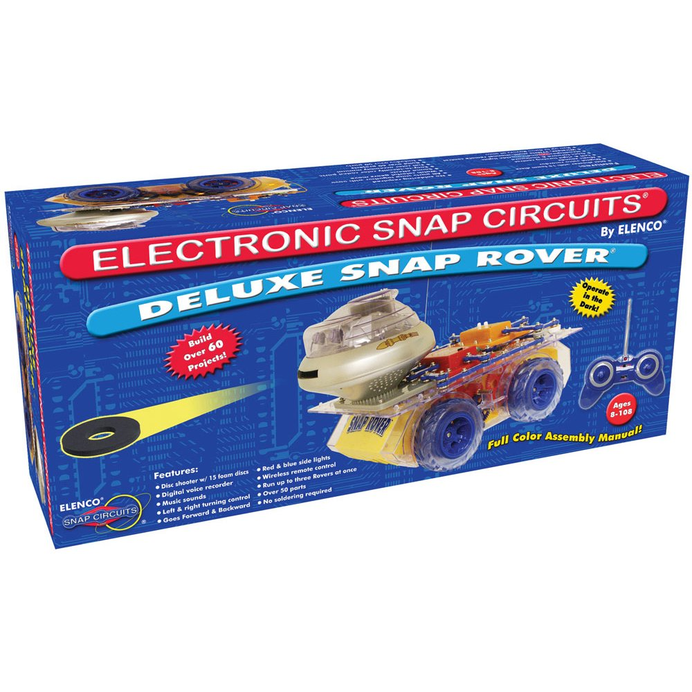 Snap Circuits Deluxe R C Rover Electronics Elenco Pro Sc500 Discovery Kit Science Exploration 40 Fun Stem Projects 4 Color Project Manual 50 Modules Unlimited