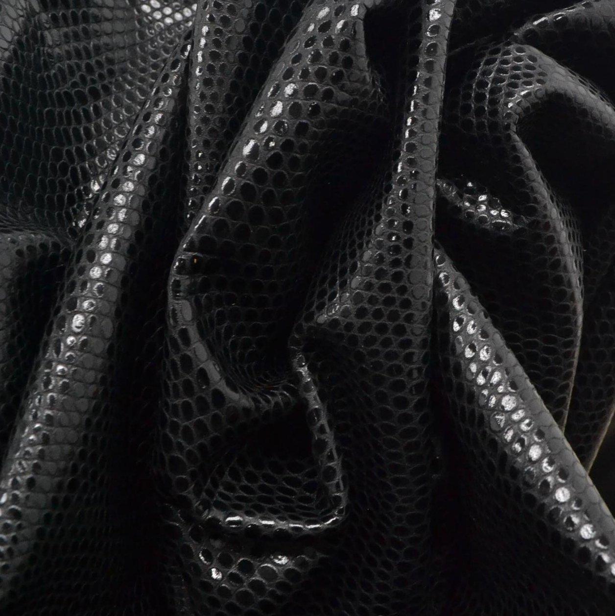 特許EdgyブラックReptile Embossed 2ozレザーファッションCow Hide 16 Square foot-3 B07CZ2YS8S