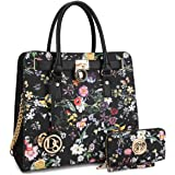 Dasein Fashion Padlock Handbags Designer Shoulder Bag Tote Satchel Purse Laptop Bag Briefcase
