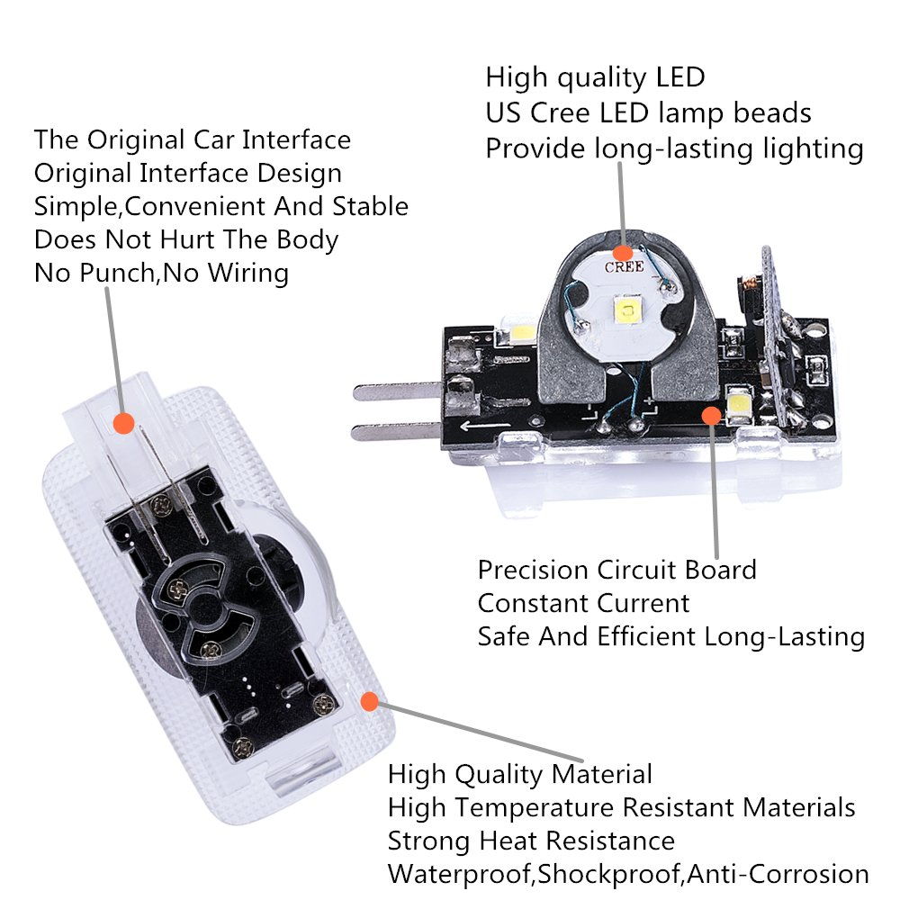 Toyota Logo Lights Ghost Lamp Accessories Door 01 Camry 2 Cooling Fans Ac Wiring Diagram Projector Easy Installation Welcome Emblem For Prius Sequoia Sienna Tundra Venza