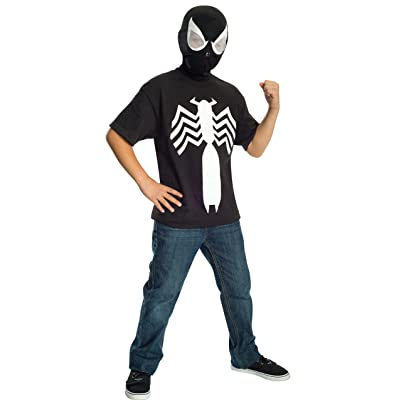 Rubie's Ultimate Black Spider-man / Venom T-shirt and Mask, Child Small - Child Small One Color: Toys & Games