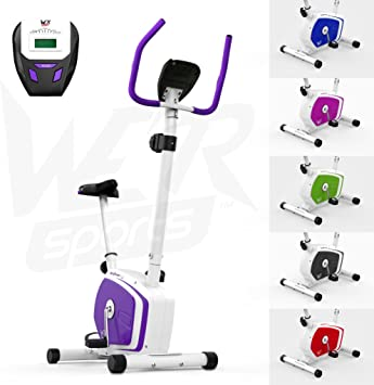 Purple We R Sports Elliptical Cross Trainer /& Exercise Bike 2-IN-1 Home Cardio Workout