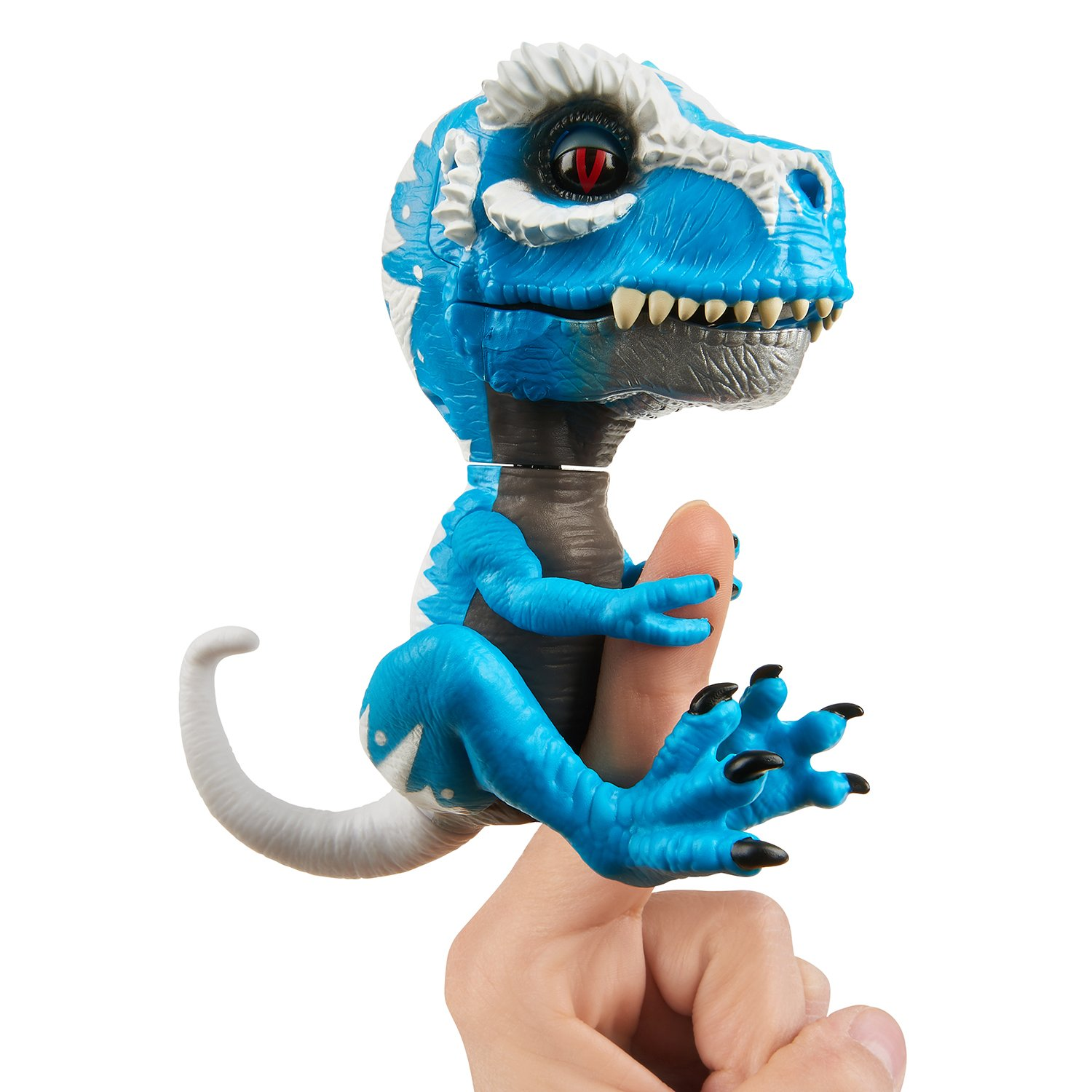 WowWee Untamed T-Rex by Fingerlings Ironjaw (Blue) -Interactive Collectible Dinosaur by WowWee (Image #2)