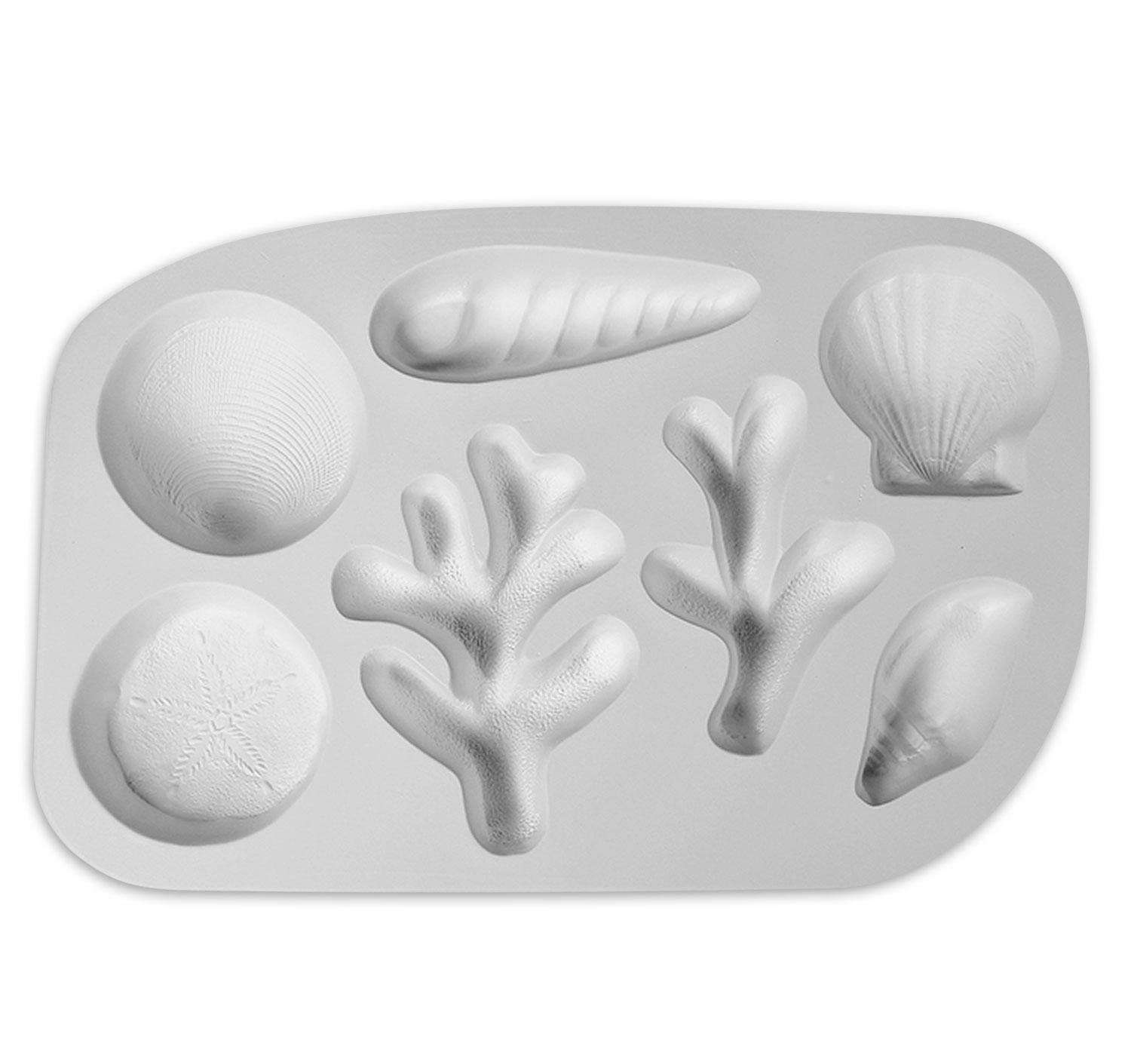 Shells And Coral Frit Casting Mold