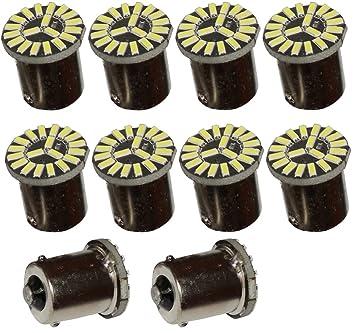 AERZETIX: 10 x Bombillas 24V P21W R10W R5W 19LED SMD color blanco efecto xenón para camion semirremolque puerta de garaje portal: Amazon.es: Coche y moto