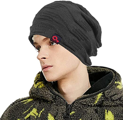 US Mens Womens Warm Winter Knit Ski Beanie Skull Slouchy Oversize Cap Hat Unisex