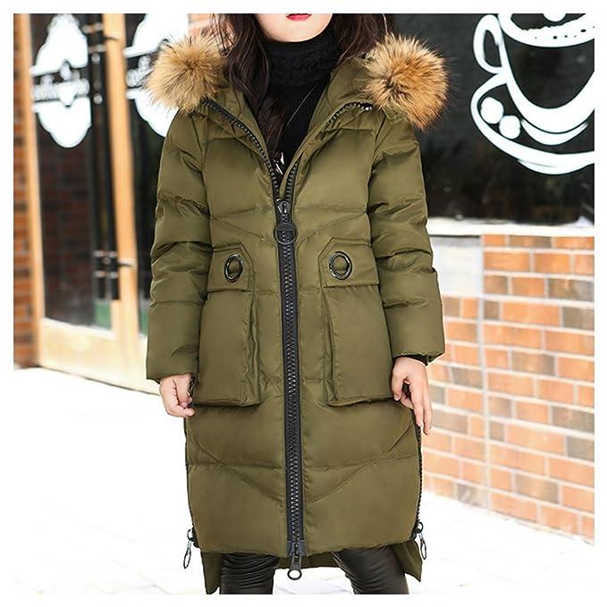 Amazon.com: LSERVER Big Girls Winter Parka Down Coat Puffer Jacket Padded Overcoat Fur Hood: Clothing
