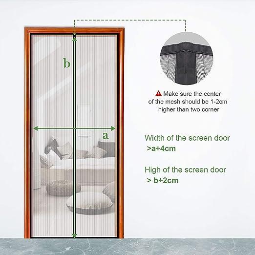 MENGH Mosquitera Puerta corredera Mosquitera Magnética para Puertas Adsorción magnética Plegable Protección contra Insectos Puertas/para Pasillos 225x235cm Blanco: Amazon.es: Hogar