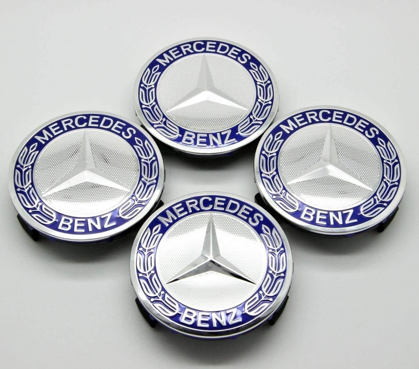 Ss 4/x Mercedes Benz in Lega Centro Caps 75/mm Badge Blu Hub Emblema 2019/Edition