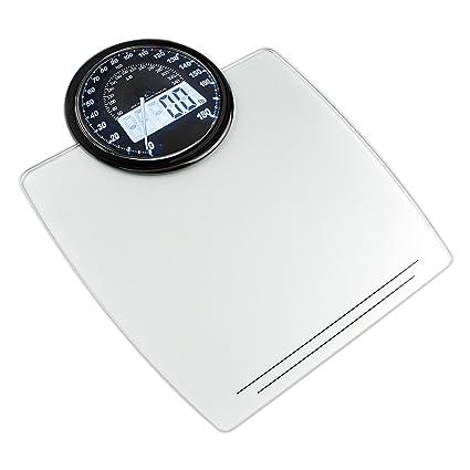 Küken 32650 - Báscula de baño LCD analógica, 180 kg