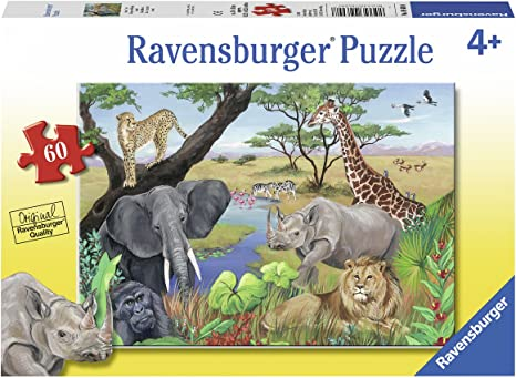 Amazon Com Ravensburger 09600 Safari Animals Jigsaw Puzzles Toys Games