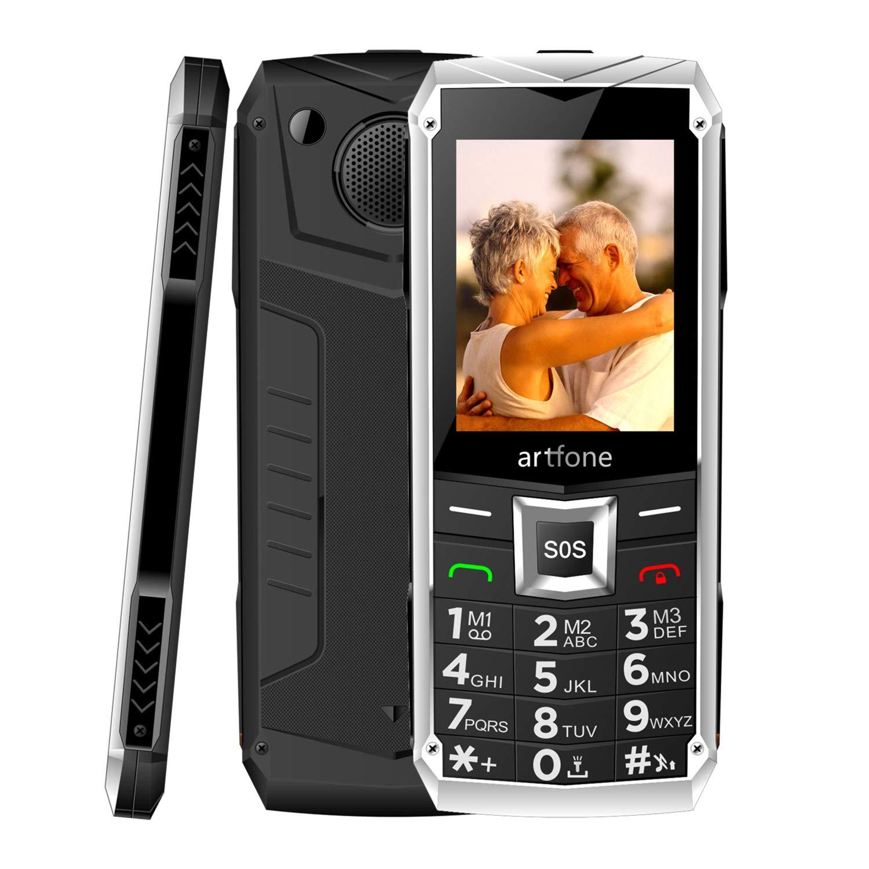 Modo de Espera Largo Dual SIM 2G Botones Grandes FM y Video Linterna LED artfone Tel/éfono M/óvil para Mayores con Teclas Grandes Pantalla de 2.4 gsm Desbloqueado