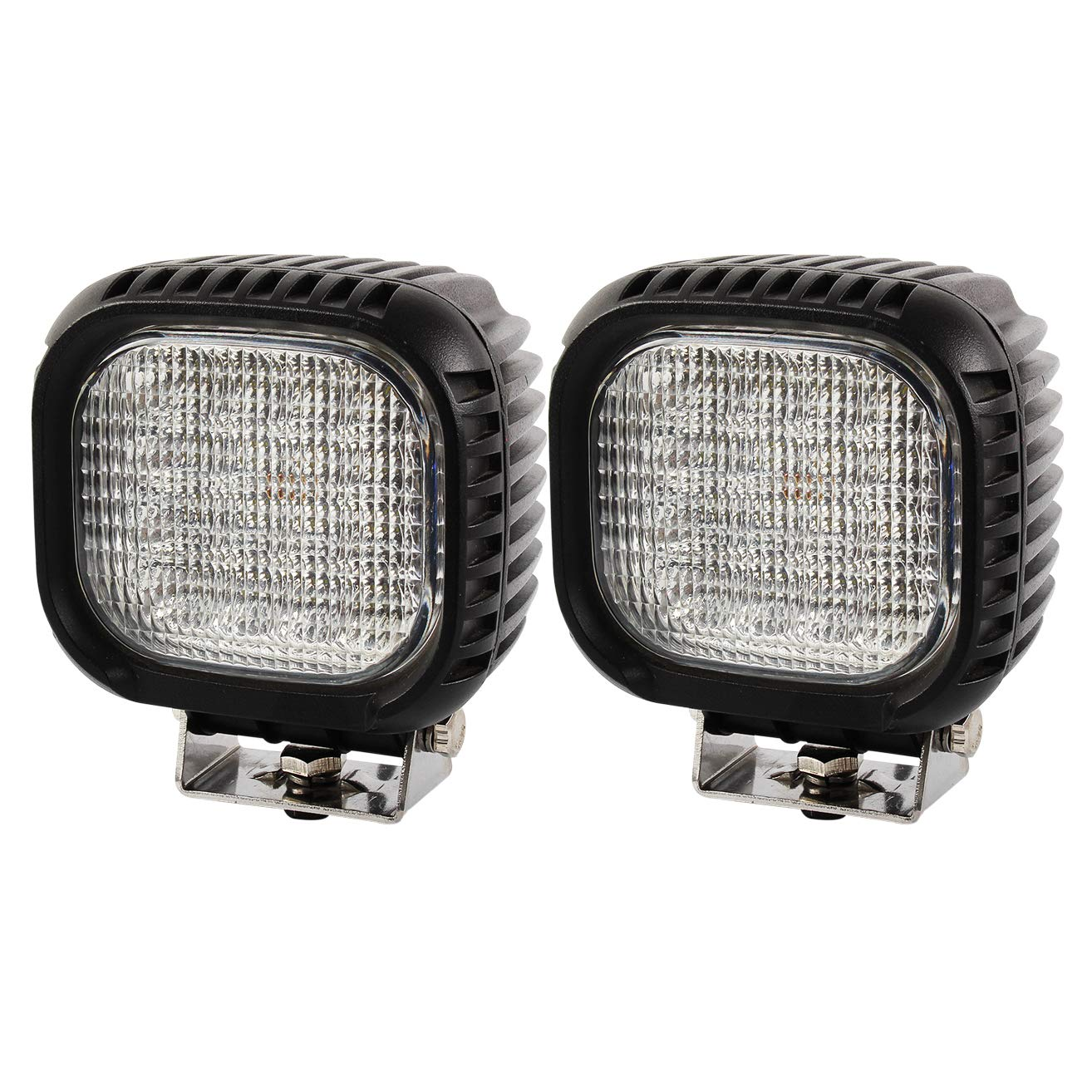 black 12.00 voltsV brightum 48/ W Cree Off-Road LED Work Lights 12/ V 24/ V Reflector Worklight Work Light SUV UTV ATV Work Light Lamp Tractor Digger Truck Car