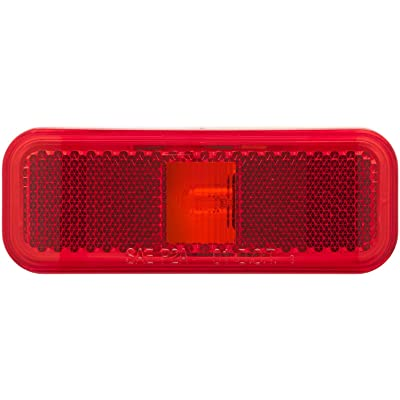 Optronics MC44RS Mark Light Rect 2Wire Red: Automotive