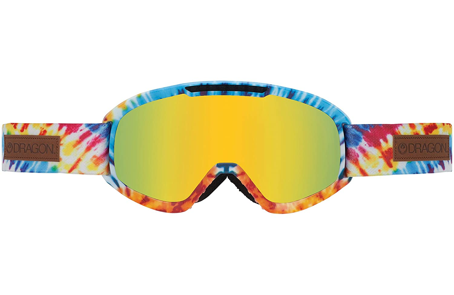 gold ion + yellow red ion Dragon Goggle Men DX2 tie dye M