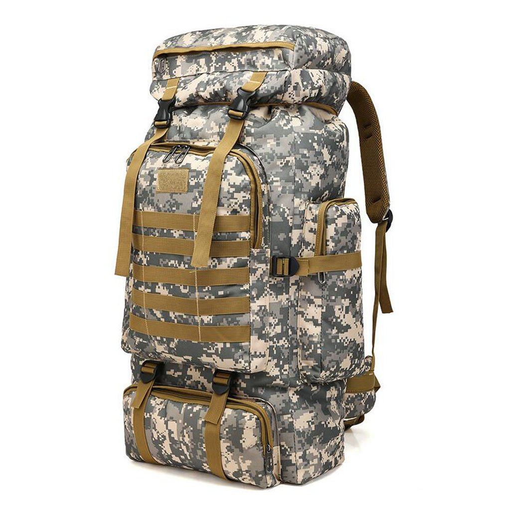 Men's Travel Bags Multi-Functional Outdoor Mountaineering Backpacks Large Capacity 80L Camo Casual Luggage Bags (Color : White, Size : Size) GHGJU factory