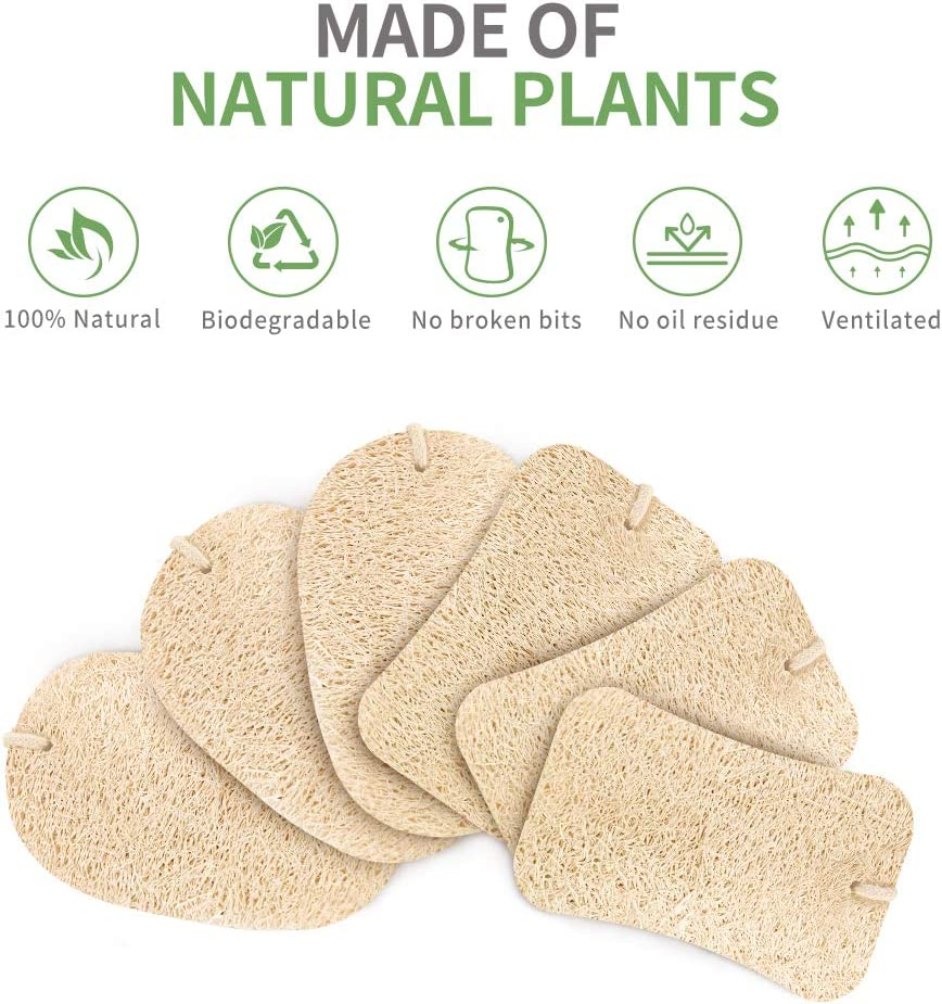 Kitsure Sponges for Kitchen, 15 Pcs Dish Sponge with 2 Designs for Cleaning, Loofah Sponges Efficiently Remove Oil Stain