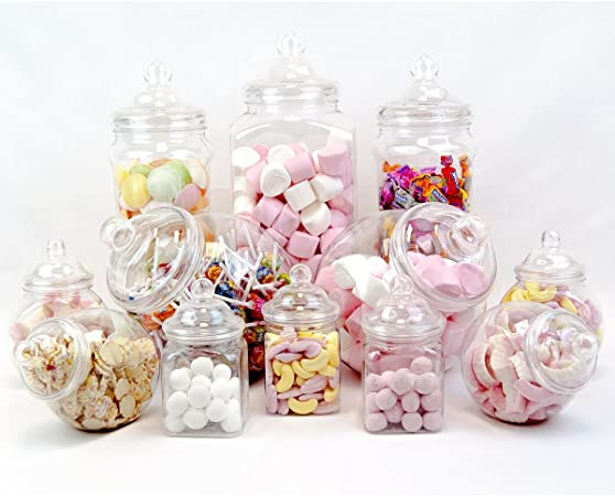 12/jar Vintage Viktorianischer Pick /& Mix Sweet Shop Candy Buffet-Set Party Pack