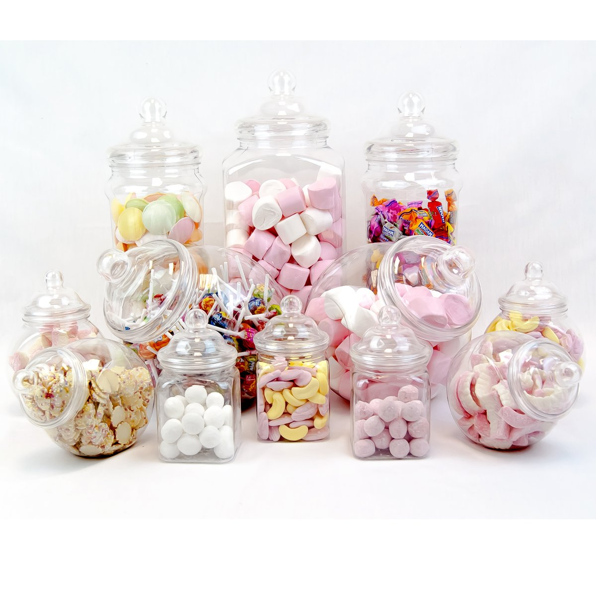 12 Jar Vintage Victorian Pick & Mix Sweet Shop Candy Buffet Kit Party Pack by Top Star