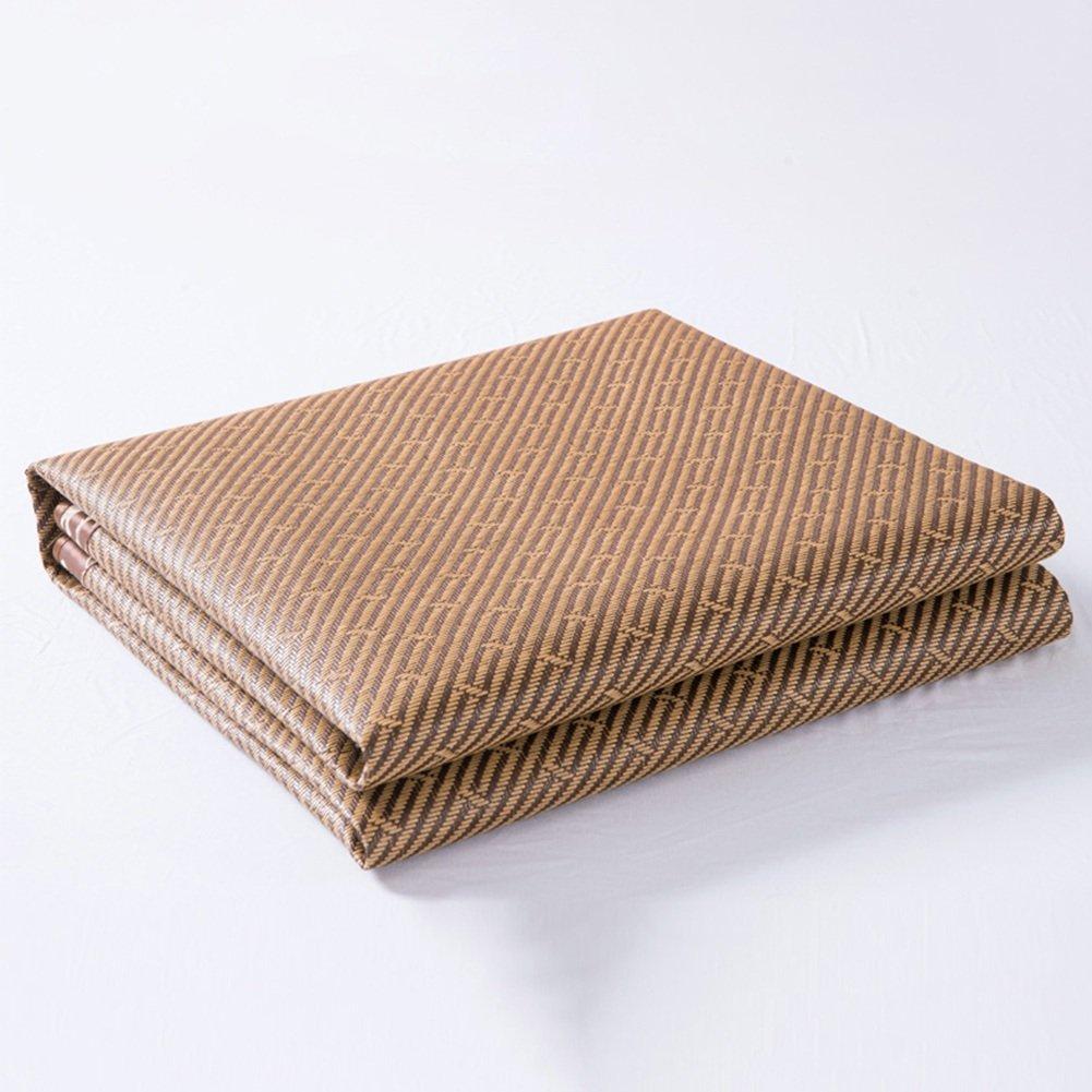 &- クールマットレス、寝具ストローマット寝袋マットベッドマット折り畳み式氷シルク籐シートホームドミトリールーム多機能、7サイズ ^ (サイズ さいず : 0.9 × 1.9m) B07FD7R2TX 0.9 × 1.9m0.9 × 1.9m