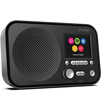 Pure Internet radio Elan IR5 con Bluetooth (Spotify Connect, más de 25.000 emisoras de radio, alarma, temporizador de cocina, pantalla TFT a color de ...