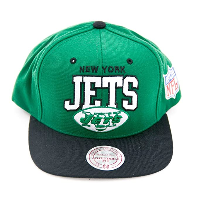 Amazon.com  New York Jets Mitchell   Ness Arched Logo Retro Vintage Snap  back Hat  Sports   Outdoors 501795216