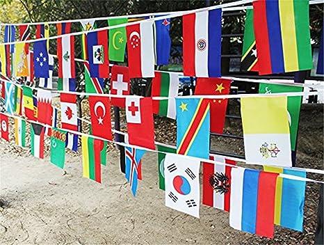 Amazon Com Racheljp World Flags Banner String International