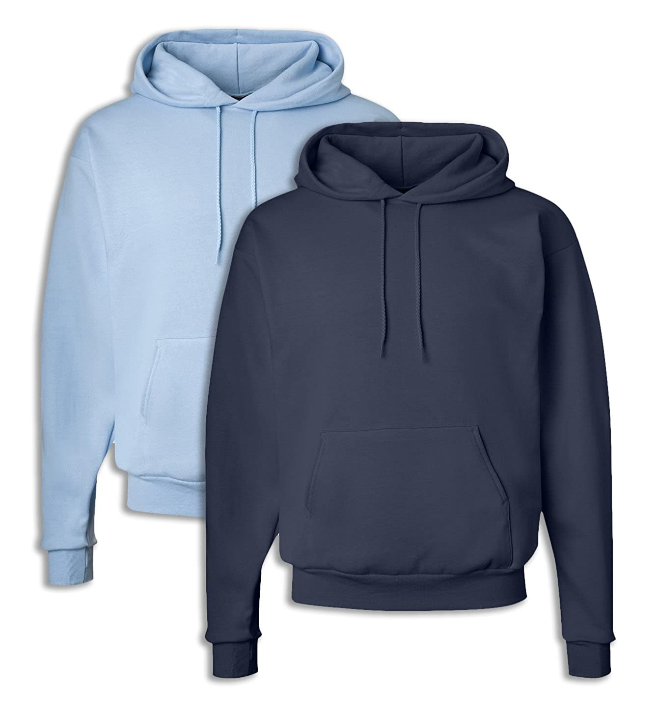 1 Navy Hanes P170 Mens EcoSmart Hooded Sweatshirt 2XL 1 Light Blue