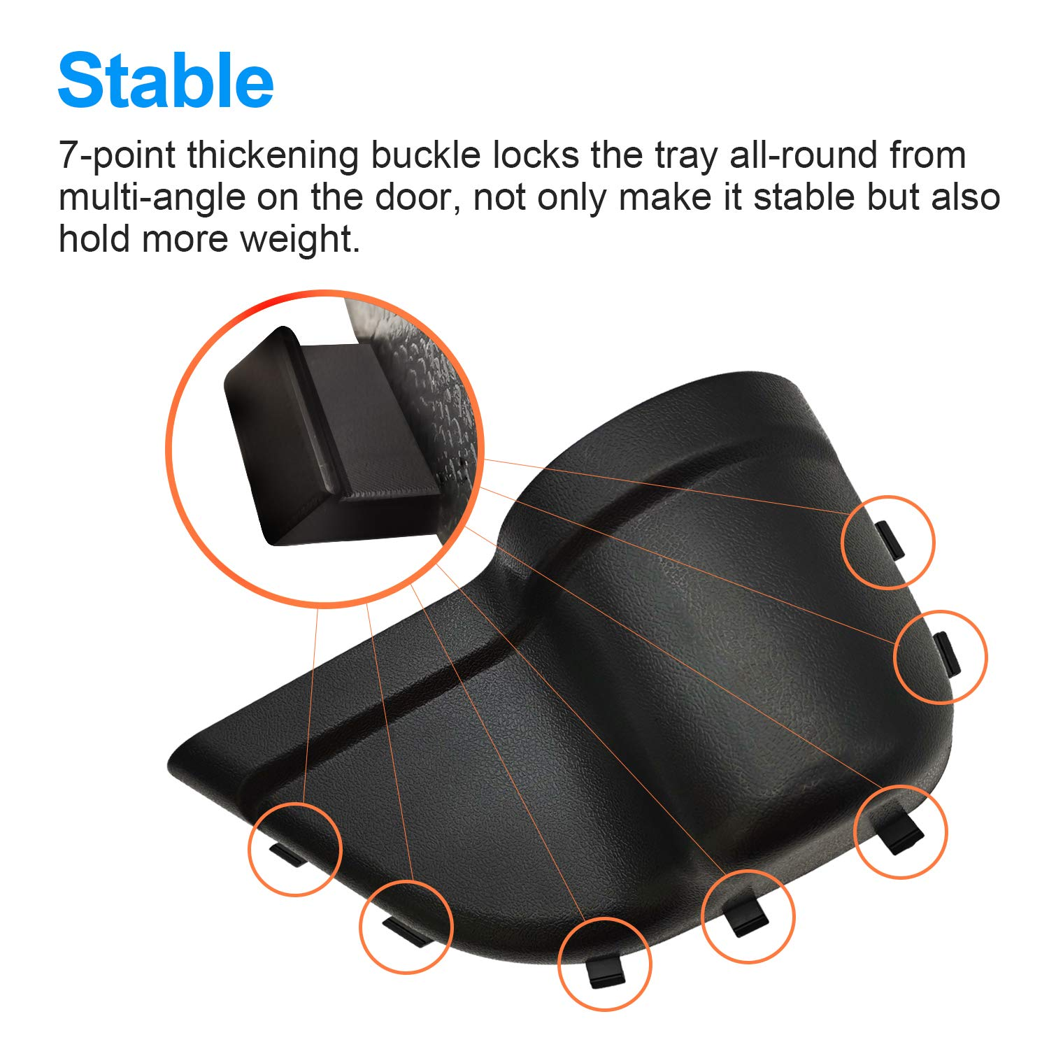 Black Interior Accessories JOINT STARS Jeep JK Grab Tray Passenger Storage Tray Organizer /& DoorPocket Front Door Storage Pockets for 2011-2018 Jeep Wrangler JK JKU
