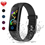 Warmwave Fitness Tracker, Slim Activity Tracker Heart Rate Monitor, IP68 Waterproof Step Counter, Calorie Counter, Pedometer for Kids Women and Men