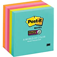 Post-it Super Sticky Notes Miami Collection 76x76mm 654-5SSMIA (Pack of 5)