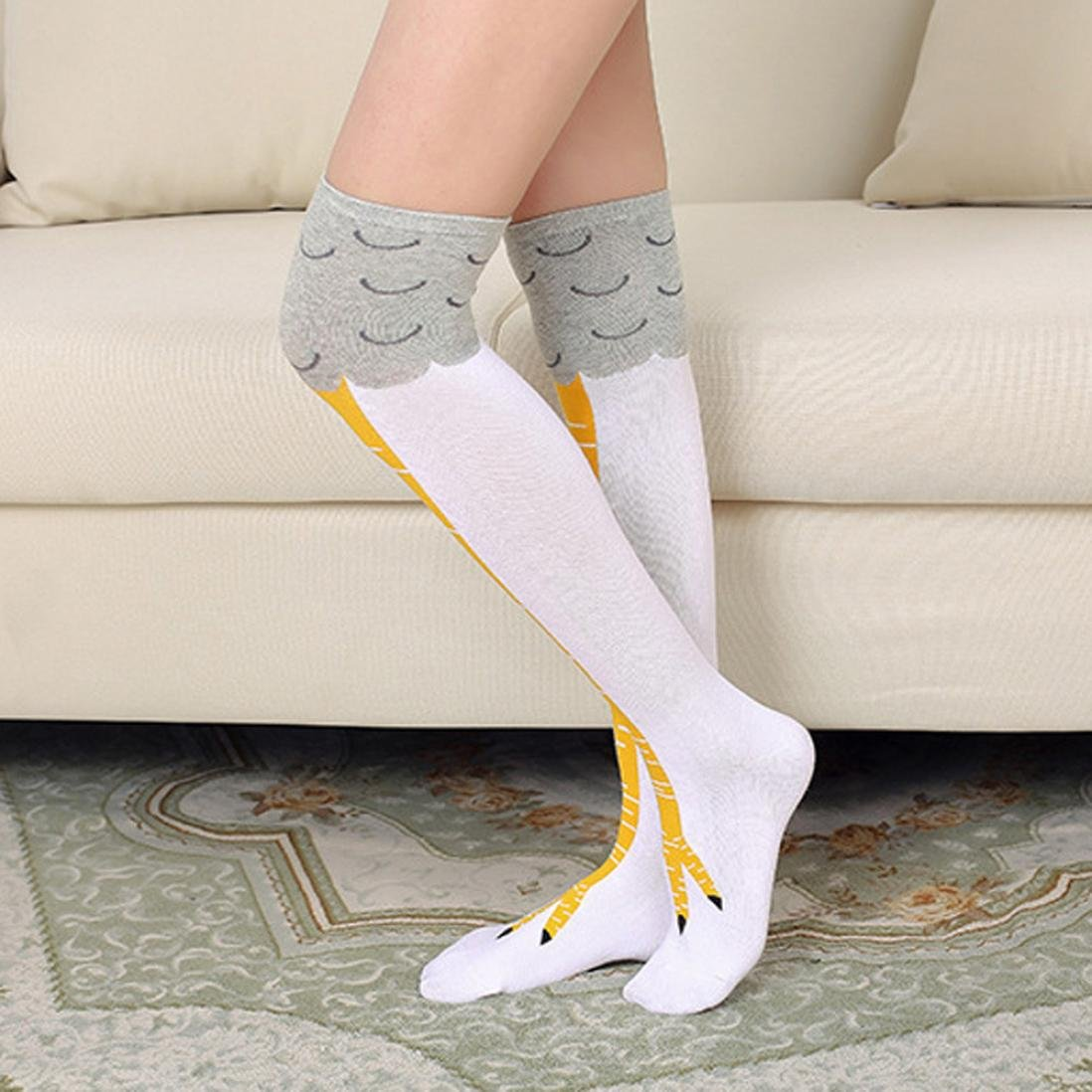 Quartly Women Girl Chicken High Socks Leggings Over the Knee Knit Socks Long Boot Warm Stockings