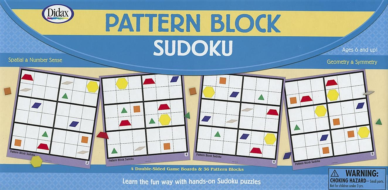 Didax Educational Resources Pattern Block Sudoku Game by Didax