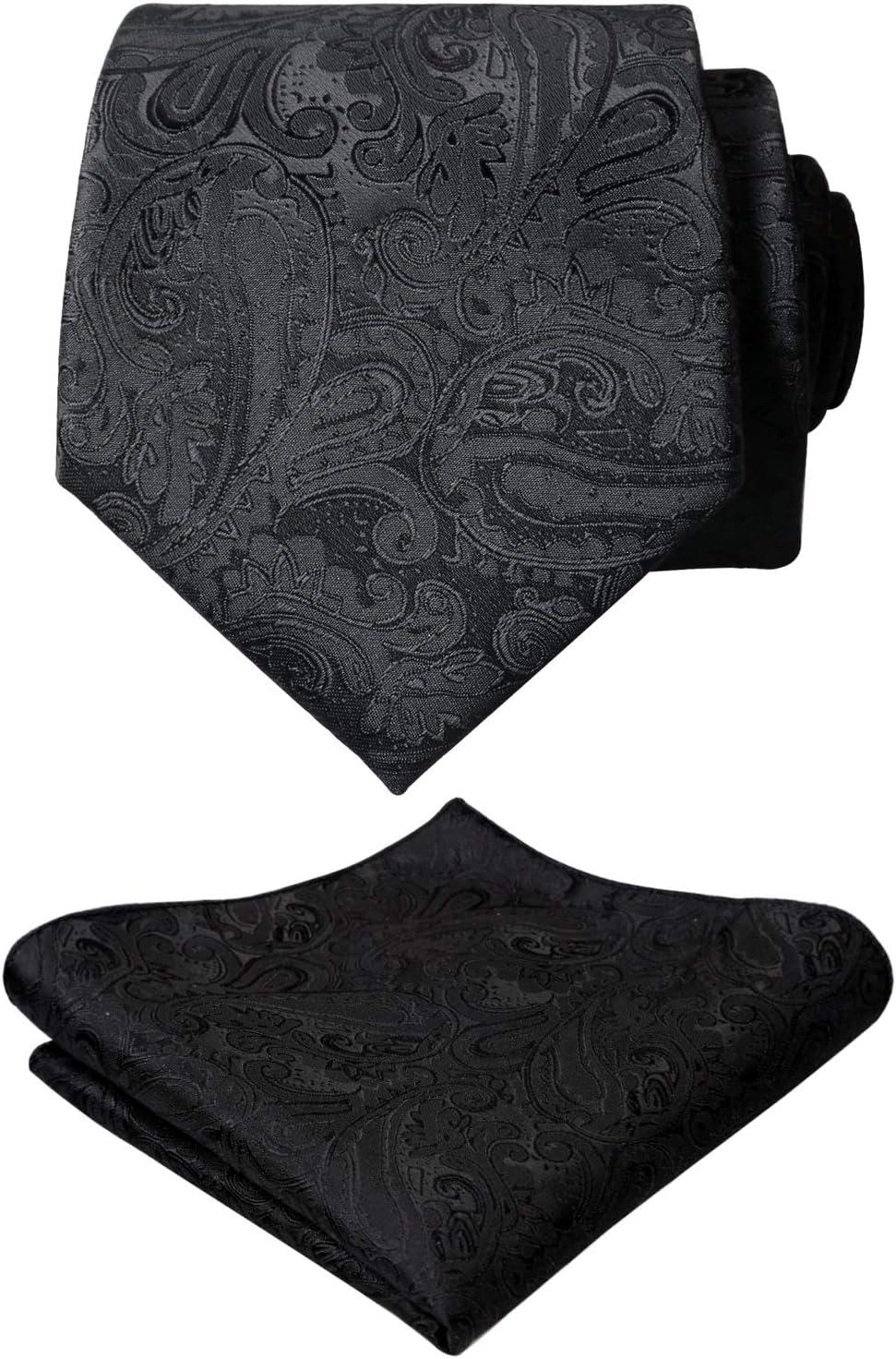 New Men/'s Polyester Woven Neck Tie necktie /& hankie set Purple paisley wedding