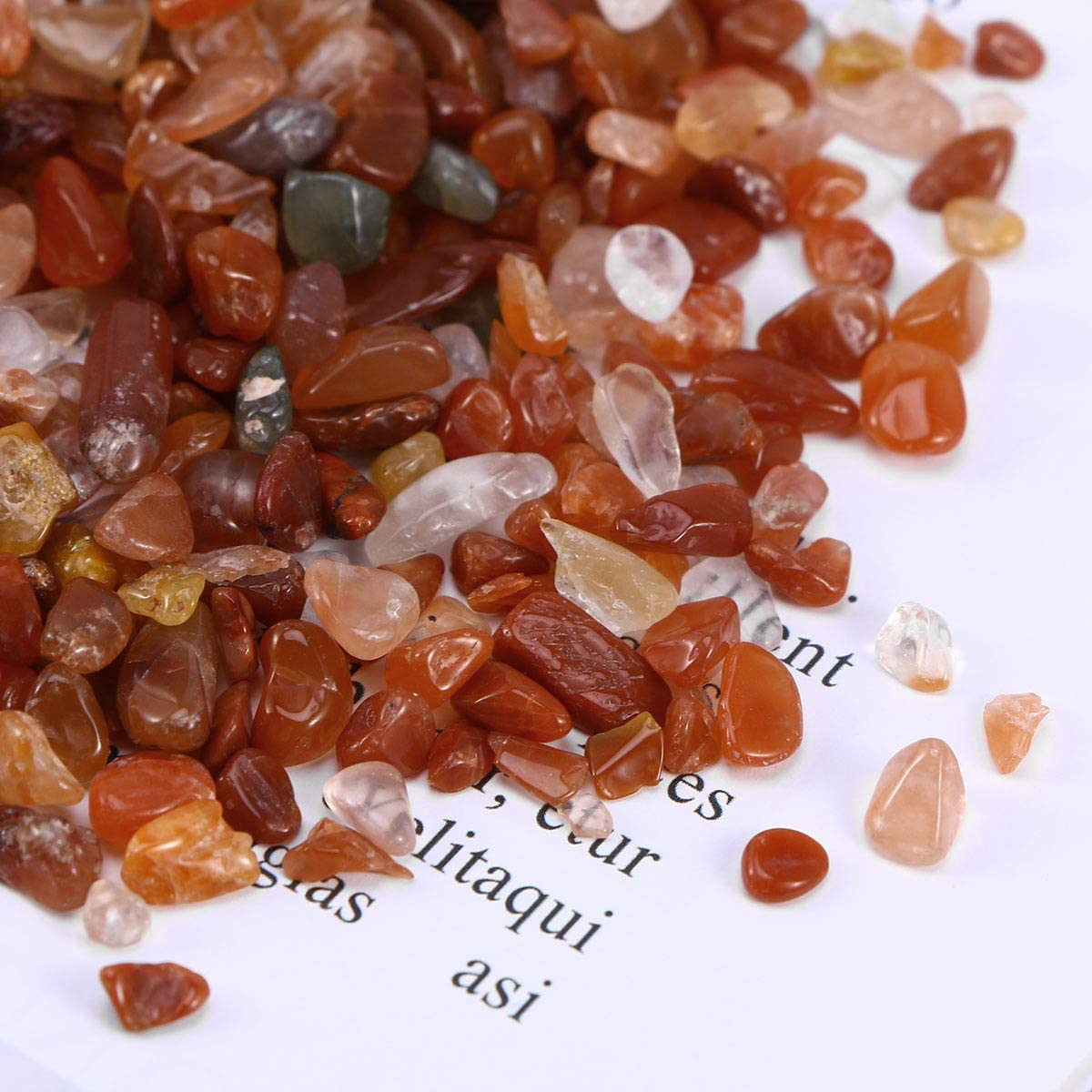 Red POPETPOP 100g Aquarium Gravel River Rock Decorative Polished Gravel Small Decorative Pebbles Stones for Aquariums Landscaping Vase Fillers