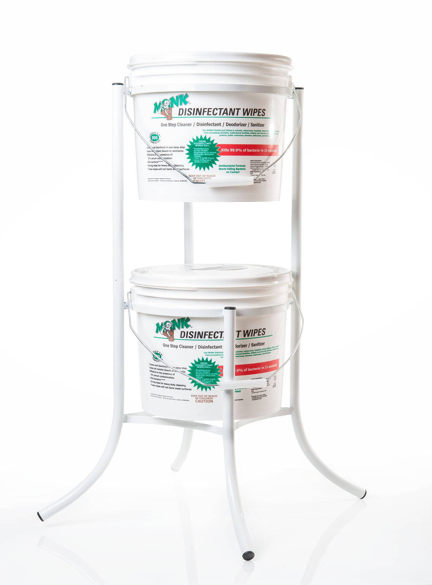Dreumex USA Inc. 69800S Monk Disinfectant Wipes Metal Bucket Stand, For 800 Count Bucket