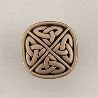 product image for Acorn Manufacturing DQGGP Artisan Collection Celtic Square Knob44; Museum Gold