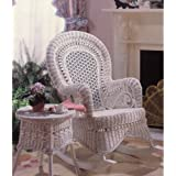 Country Wicker Rocking Chair - Indoor/Covered Porch