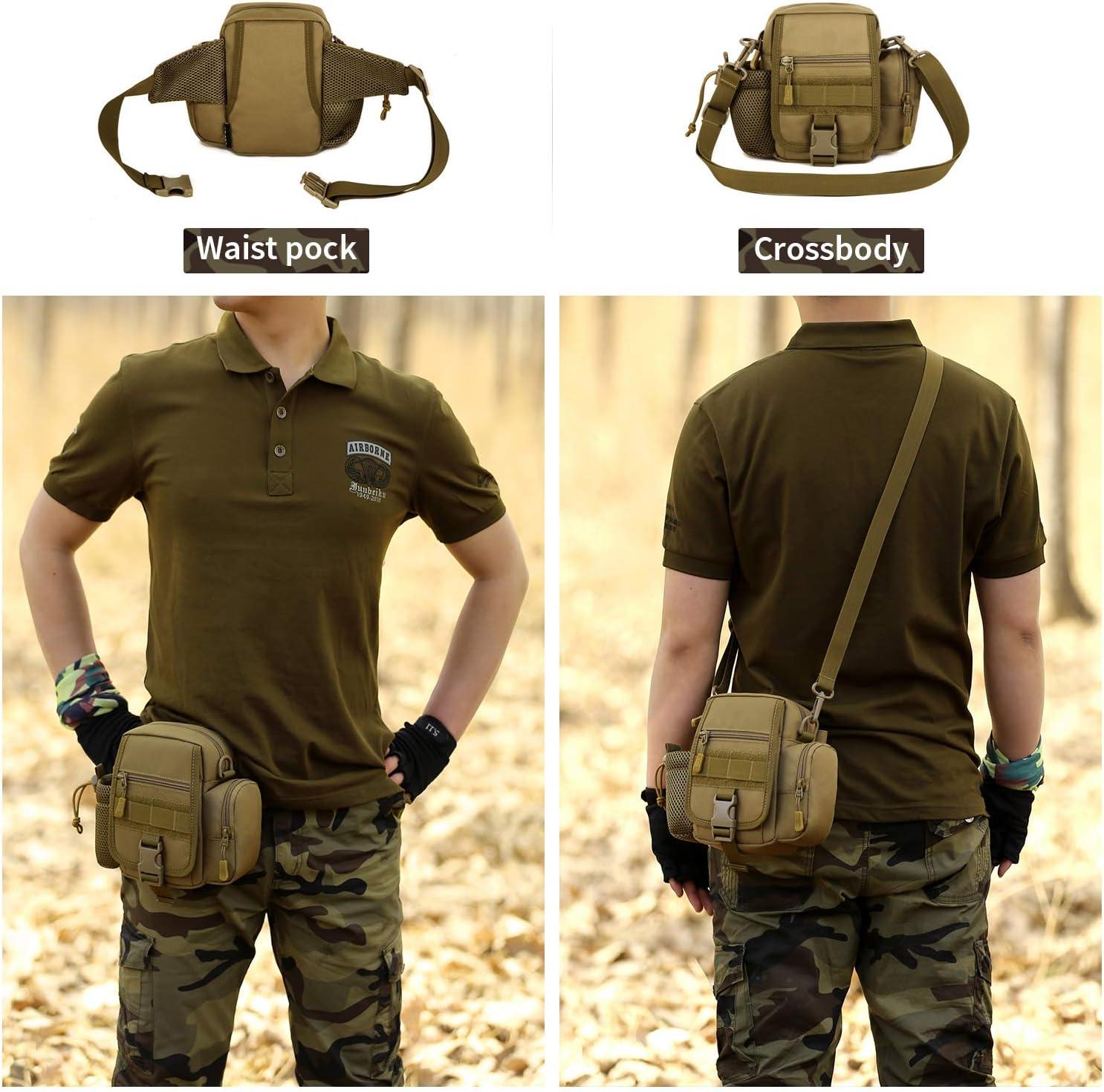 YFNT Exterior t/áctico Impermeable Pierna Bolsa Banana para Deporte Caminata Camping Militar Bolsa Molle cintur/ón Bolsa Moto para