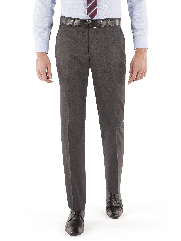 Suit Direct Limehaus Grey Herringbone Suit Trouser - LH120414 Slim And Skinny Fit Mixer Trouser