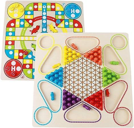 Vobajf Damas Chinas Dos-en-uno Juego de Mesa Gran Damas Juego for niños de Juguete Juegos de Mesa (Color : True Color, Size : Free Size): Amazon.es: Hogar