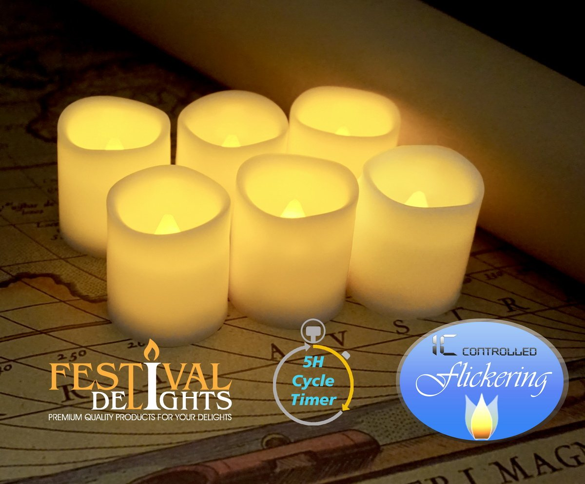 Excellent Amazon.com: Festival Delights Timer Flameless Candles By Premium  CQ33