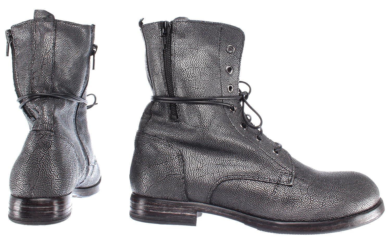 MOMA Damen Schuhe Stiefeletten 88702 R1 Pelle Leder Grau
