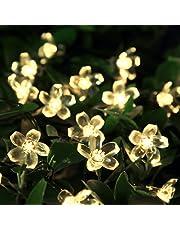 Guirlande Lumineuse Solaire, Lumière de fée 50 LED Étanche 5M Blossom éclairage Luminaires Extérieur Imperméable Noël | pour Intérieur, Jardin, mariage, terrasse, fête et décoration de vacances