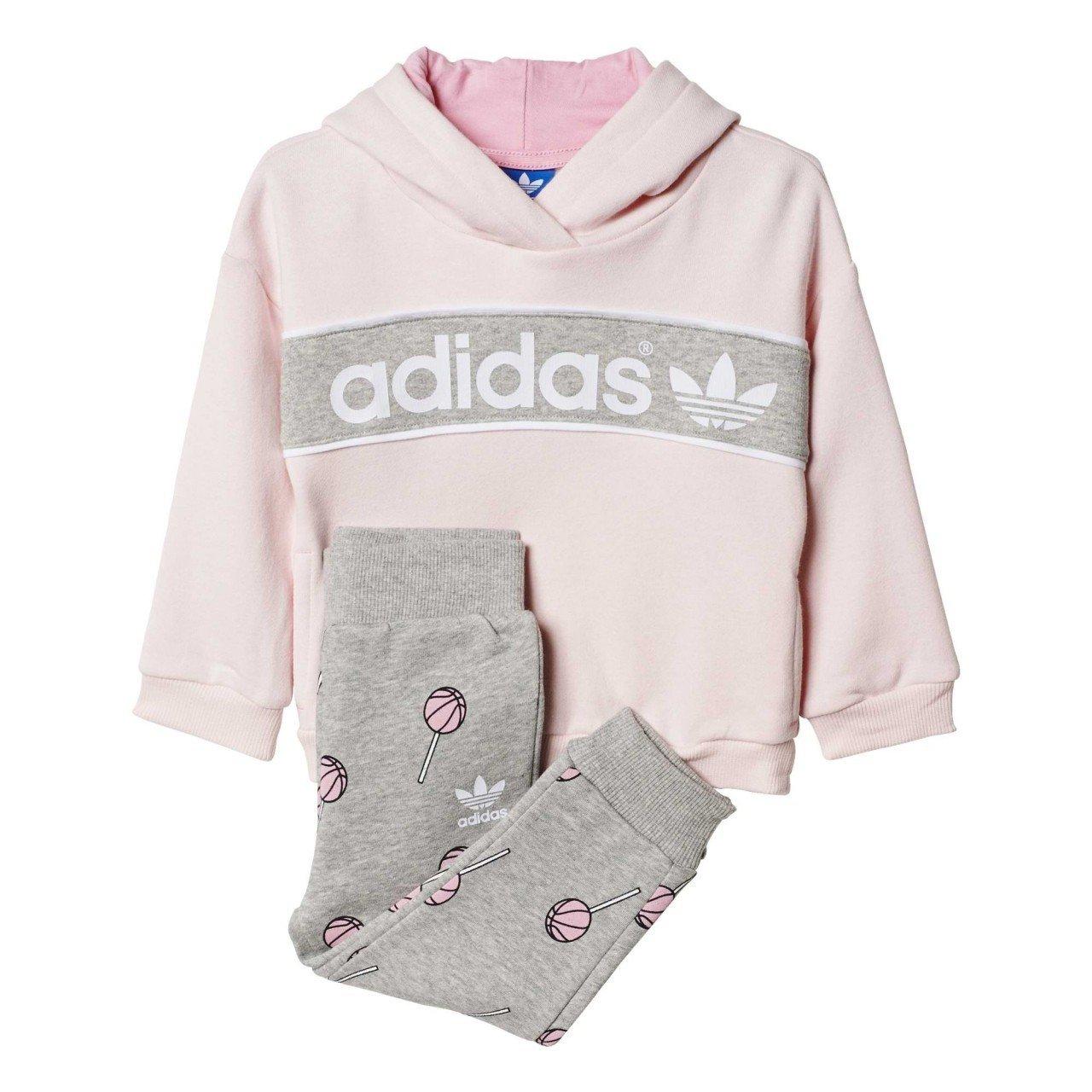 adidas - Chándal de bebé Basketball Hooded Fleece: Amazon.es ...