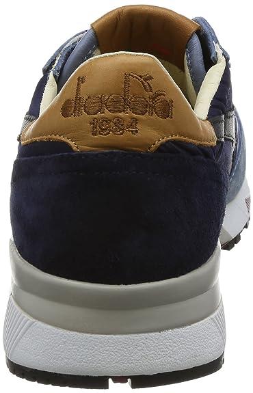 Diadora Heritage Herren Sneaker Made in Italy - Trident 90 NYL Aus Leder  Wildleder - Tricolor - Mehrfarbig Blau  Amazon.de  Schuhe   Handtaschen 0bcf5c3a35
