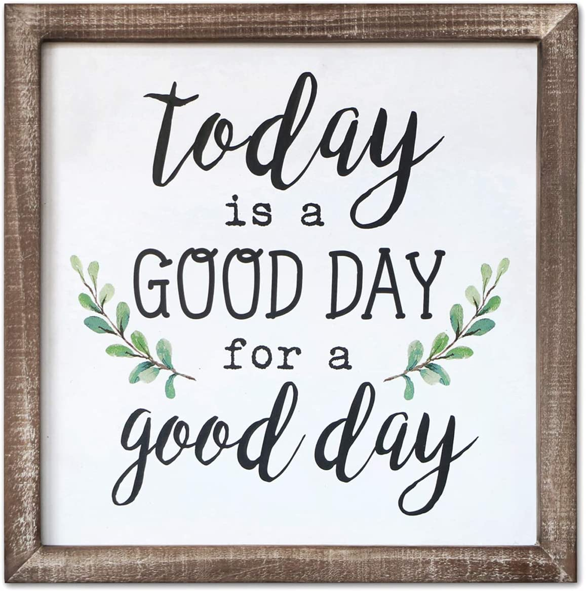 SANY DAYO HOME Wall Decor Signs with Inspirational Quotes and Sayings  Rustic Wood Framed Modern Farmhouse Wall Hanging Art (Today is A Good Day  to