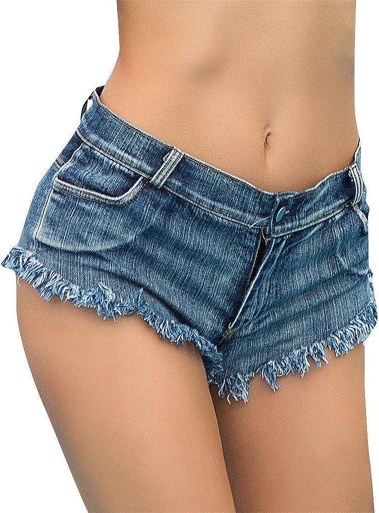 Laisla fashion Bicchierini di Modo delle Donna Hot A Classiche Pants Vita Alta Bottone dei Jeans Tasche Ultra Mini Shorts Pantaloni Jeans Shorts Hotpants