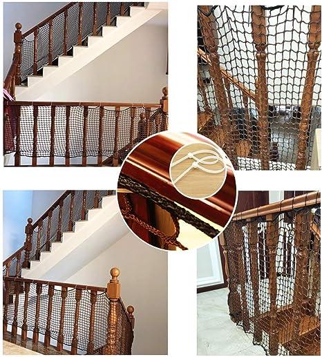 Red De Seguridad para Balcón De Bebé, Red De Protección De Barandas De Escalera para Mascotas/Juguetes, Red De Aislamiento De Nylon para Baranda De Terraza, Material De Tela De Malla Resistente: Amazon.es: