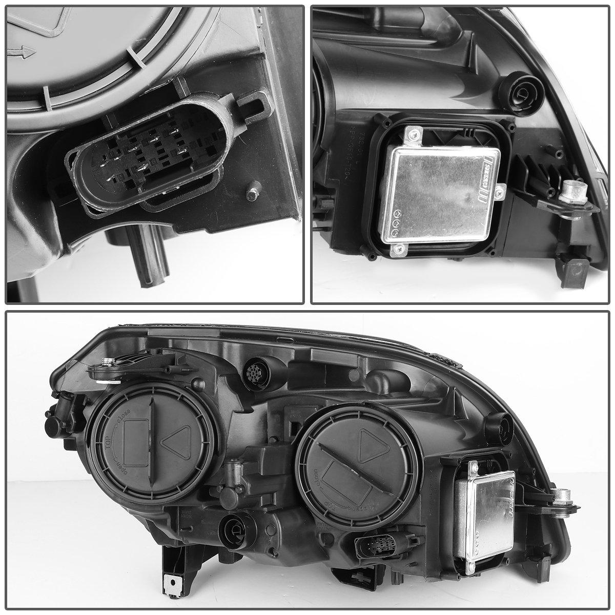 For 09 15 Mercedes Benz X204 Glk Class Pair Black 350 Engine Diagram Housing Hid Projector Headlight W Led Drl Turn Signal Light Automotive